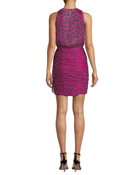 Micah Silk Floral-Print Sleeveless Short Dress