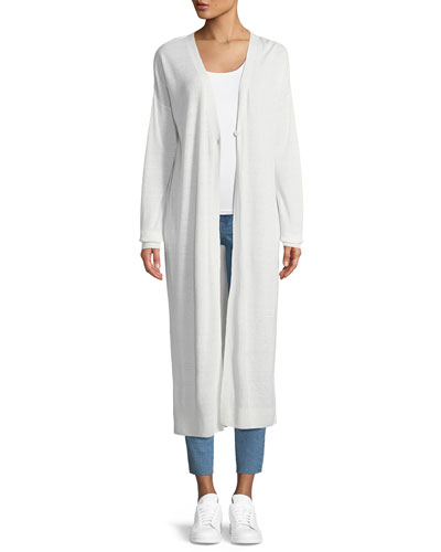 New Harbor Long-Sleeve One-Button Duster Cardigan