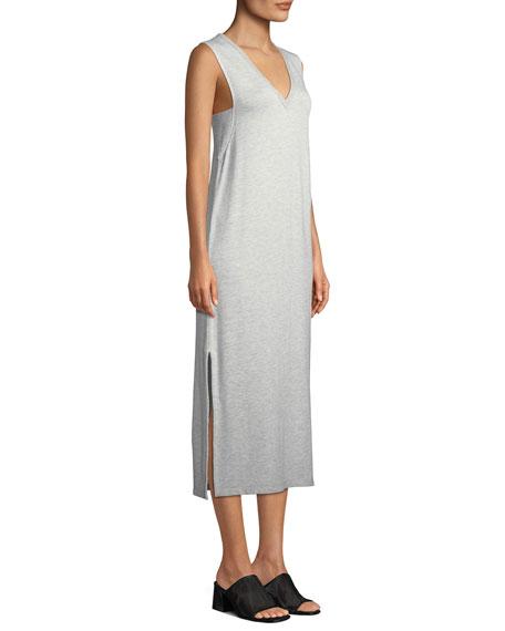 Phoenix Sleeveless V-Neck Midi Dress