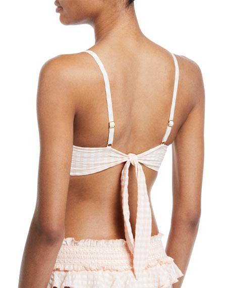 Gingham Underwire Bikini Swim Top