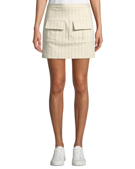 We Can Climb This Mountain Pinstripe Mini Skirt