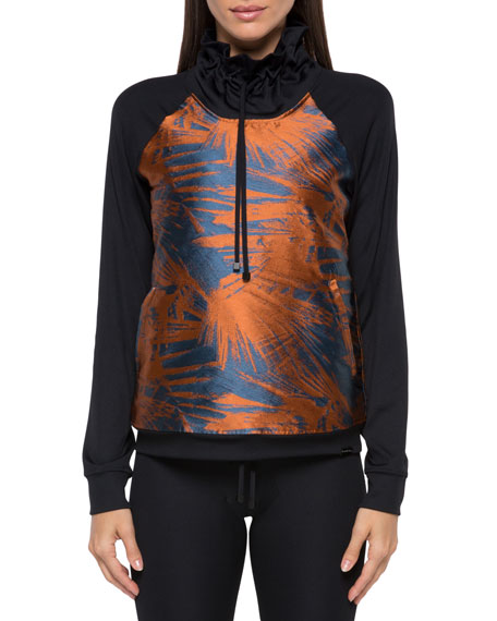 Koral Activewear Roulette Funnel-Neck Printed Sweatshirt