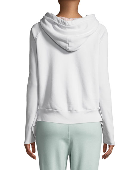 Hooded Cotton Fleece Pullover Hoodie