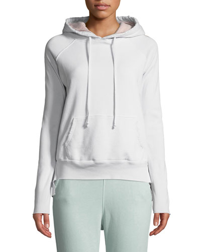 Hooded Cotton Fleece Pullover Hoodie