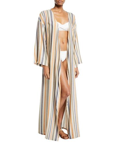 Meika Striped Coverup Robe