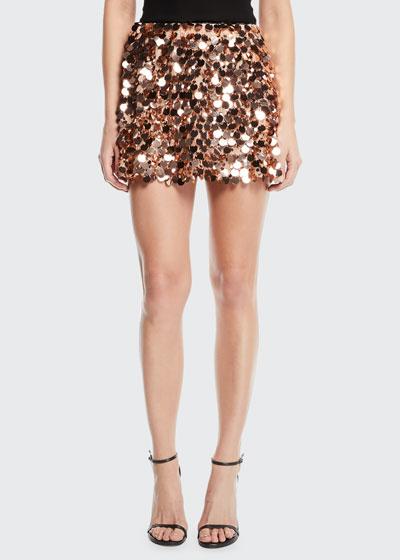Meera Sequined Mini Skirt