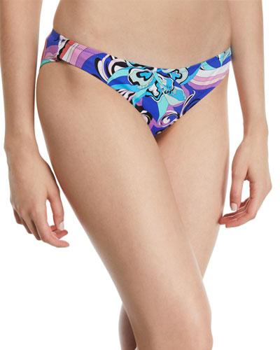 Printed Hipster Bikini Swim Bottom