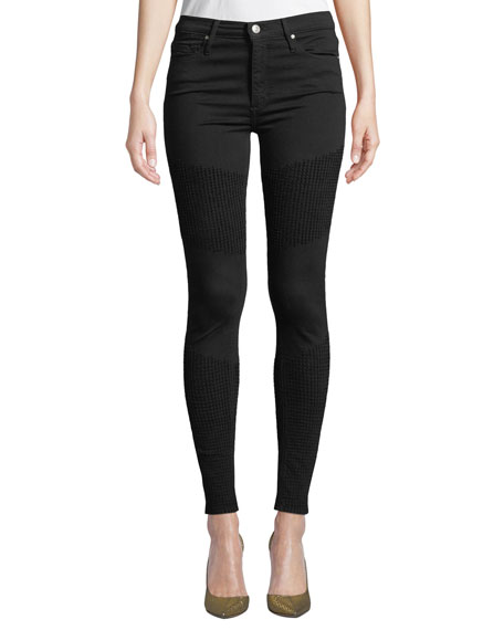Gisele High-Rise Super Skinny with Moto Detail