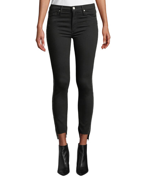 Black Orchid Miranda Step-Hem High-Rise Skinny with Racer