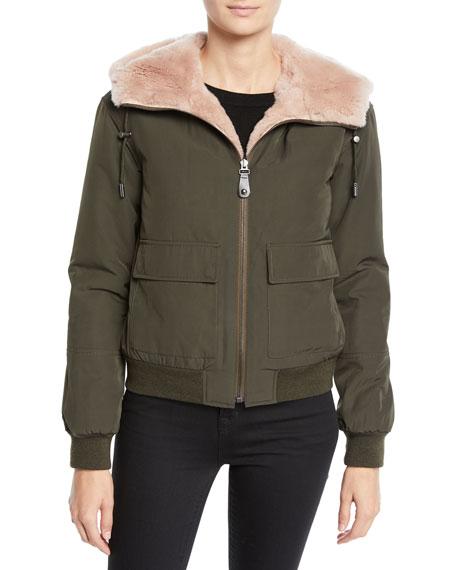 Reversible Fur & Nylon Jacket