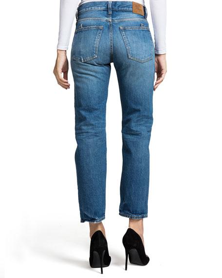 Delorean Mid-Rise Ankle Straight-Leg Jeans - Equinox