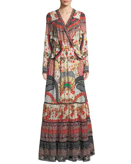 CAMILLA Vintage Vixen Cross Front Maxi Dress