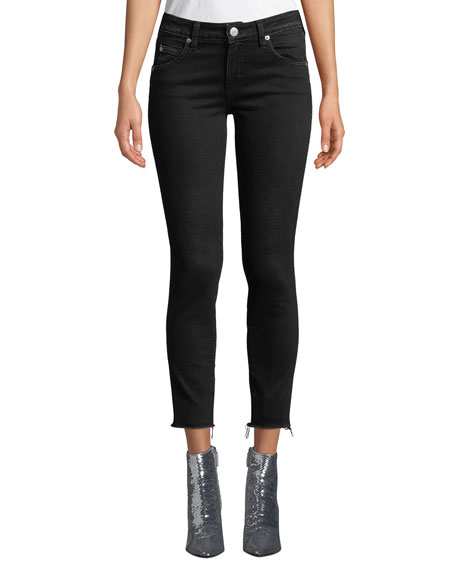 Amo Denim STIX CROPPED RAW-EDGE SKINNY JEANS