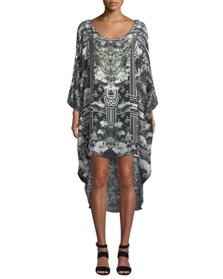 Camilla SCOOP-NECK EMBELLISHED COVERUP DRESS
