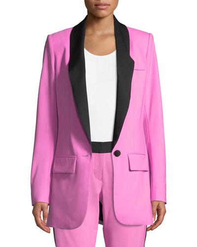 Tommy Crepe Single-Button Jacket