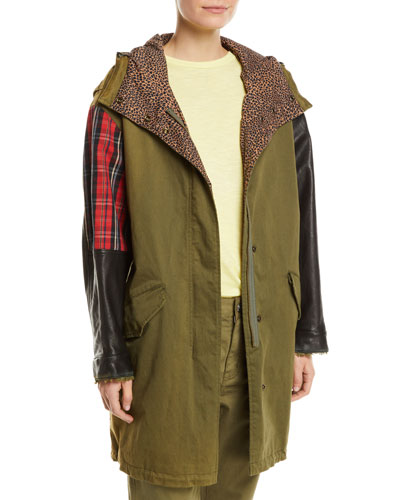The Harper Mixed-Media Hooded Parka Jacket