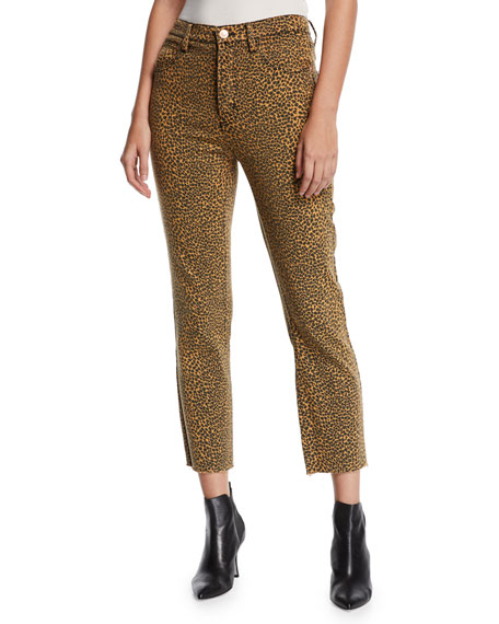 Current Elliott Jeans THE STILETTO HIGH-RISE LEOPARD-PRINT JEANS