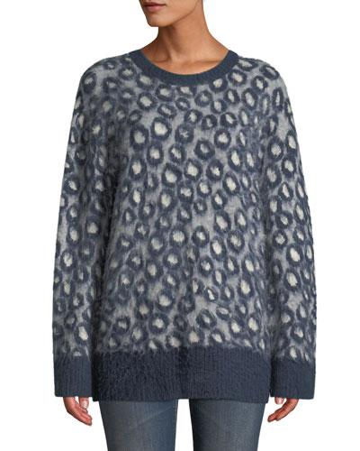 The Cali Leopard-Print Pullover Sweater
