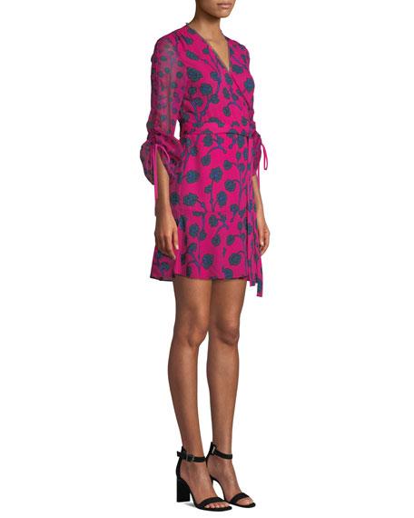 67fd94d93966 Diane von Furstenberg Tamra Floral-Print Long-Sleeve Wrap Dress