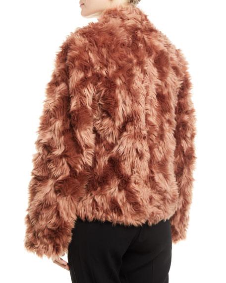 Plush Faux-Fur Cropped Jacket