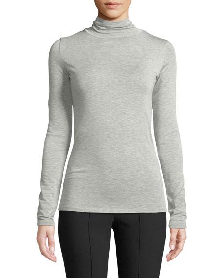 Long-Sleeve Heathered Turtleneck Sweater