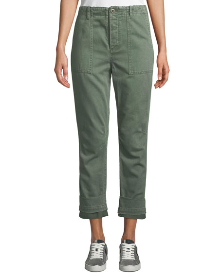 Le Superbe Casbah Cuffed Cropped Cargo Pants
