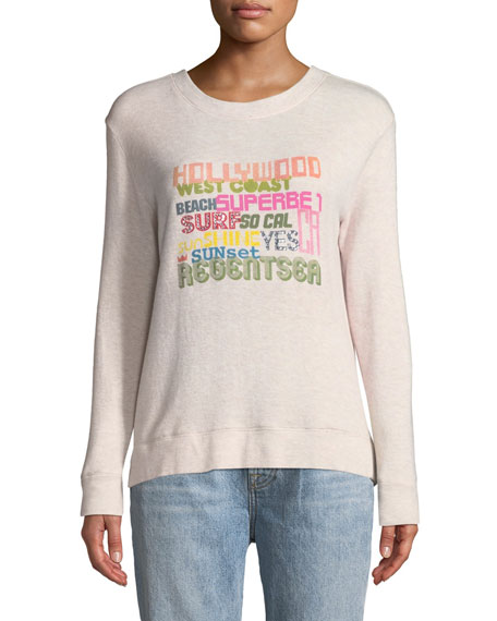 Le Superbe Bay St. Hollywood Graphic Pullover Sweatshirt