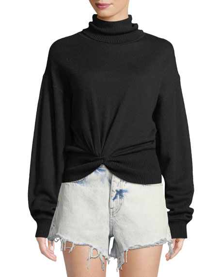 alexanderwang.t Double Layered Knotted Turtleneck Sweater