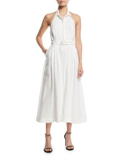 Primrose Belted Halter Midi Dress