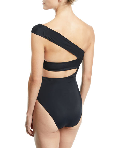 96b72f3a89 OYE Swimwear Veronique One-Shoulder One-Piece Swimsuit
