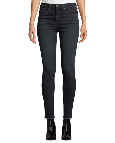 """Kate 10"""" Rise Skinny Ankle Jeans with Released Hem"""