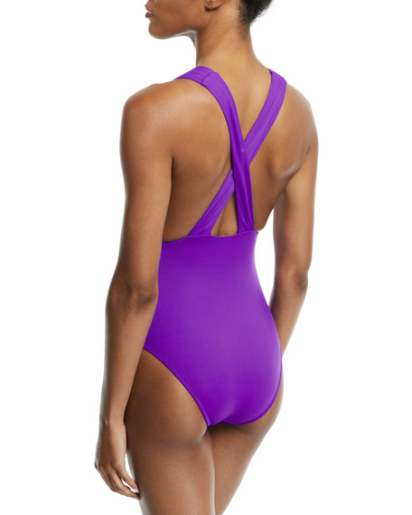 Marie Lace-Up One-Piece Swimsuit