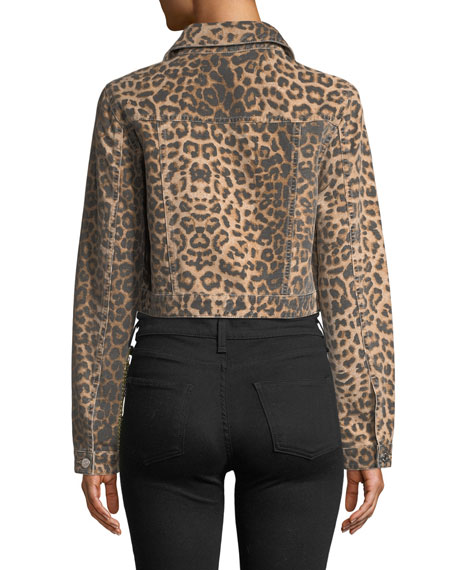 ad79bfe8fcd0 Veronica Beard Cara Leopard-Print Cropped Jean Jacket and Matching Items