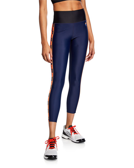 PE Nation Victory Run High-Rise 7/8 Leggings