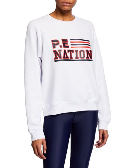 PE Nation Blacktop Logo Raglan Pullover Sweatshirt