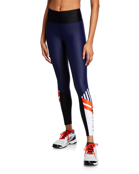 PE Nation Ko High-Rise Performance Leggings