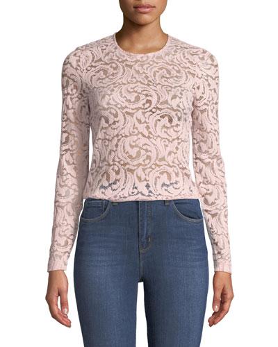 Annika Long-Sleeve Lace Top