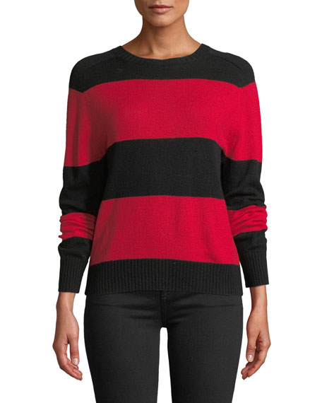 RE/DONE Striped Wool-Cashmere Pullover Sweater