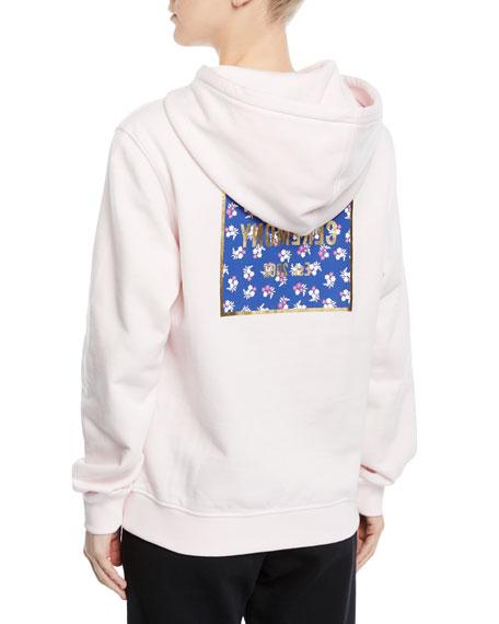 Box Logo Cotton Pullover Hoodie