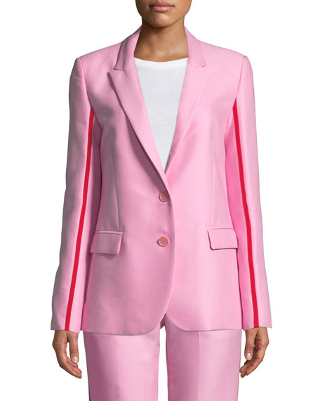 PINKO Racer-Stripe Two-Button Blazer