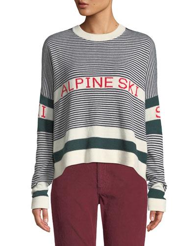 The Alpine Ski Striped Pullover Sweater