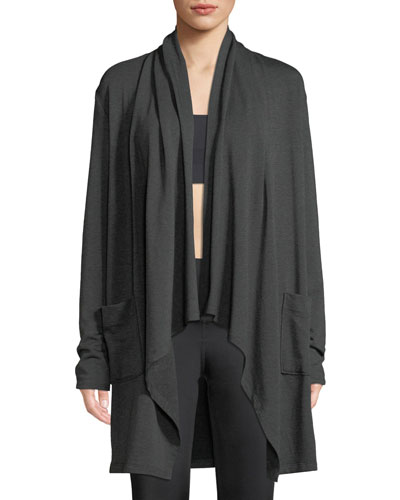 Everyday Draped Open-Front Cardigan