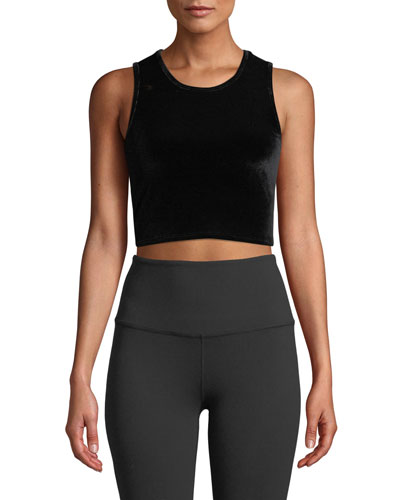 Velvet Motion Cropped Active Tank