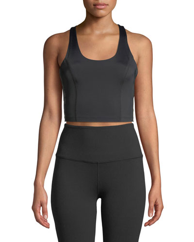 Down The Line Compression Cropped Tank