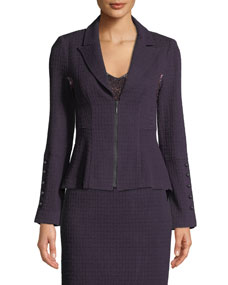 Expedition Zip Front Knit Blazer by Nanette Lepore