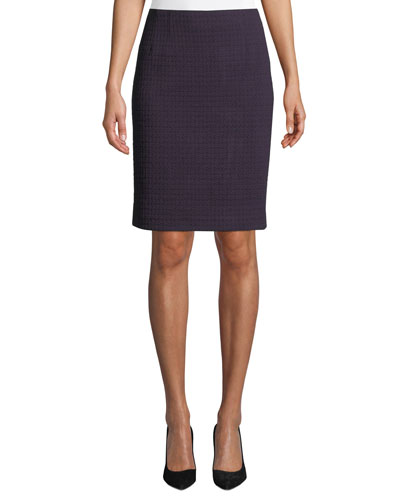 Magic Carpet Knit Pencil Skirt