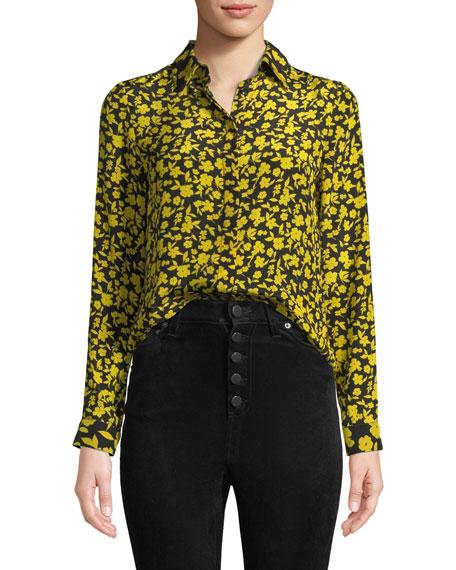 Willa Floral Print Silk Shirt