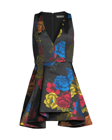 Tanner Floral-Print Asymmetrical Dress