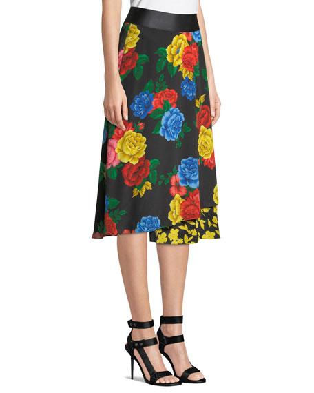 Nanette Mock-Wrap Midi Skirt