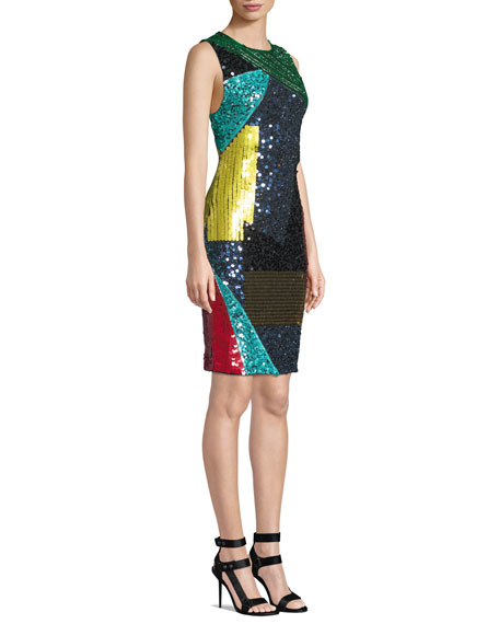 Nat Embellished Mid-Length Fitted Dress